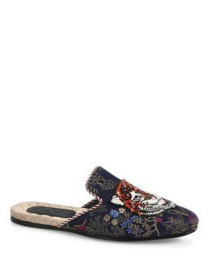 Gucci Donald Duck Jacquard Evening Slippers