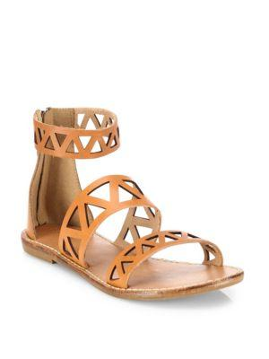 Soludos Geometric Laser-cut Leather Sandals