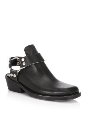 Balenciaga Leather Motoboot Mules