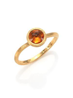 Marco Bicego Jaipur Citrine & 18k Yellow Gold Ring