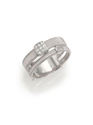 Marco Bicego Masai Diamond & 18k White Gold Ring