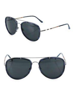 Burberry 58mm Pilot Sunglasses