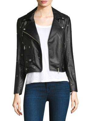 Rebecca Minkoff Star Leather Moto Jacket