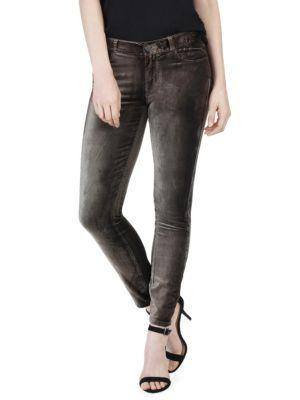 Paige Verdugo Velvet Ankle Skinny Jeans
