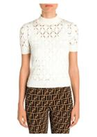 Fendi Mockneck Cutout Knit Top
