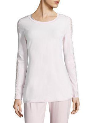 Cosabella Sonia Lace-inset Pajama Top