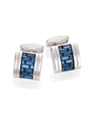 Tateossian Crystal Interlock Cuff Links