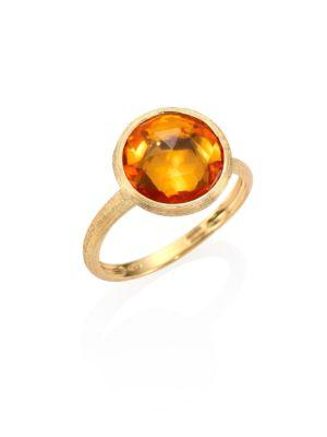 Marco Bicego Citrine & 18k Yellow Gold Medium Stackable Ring