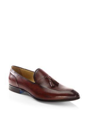 Sutor Mantellassi Lenny Venezia Leather Tassel Loafers