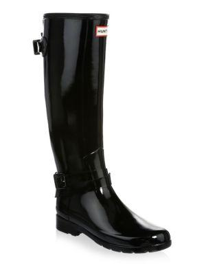 Hunter Refined Gloss Ankle-strap Tall Rain Boots