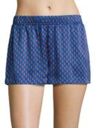 Asceno Patterned Silk Pajama Shorts