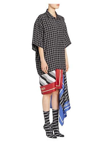 Balenciaga Mixed Scarf-print Shirtdress