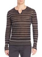 John Varvatos Striped Long-sleeve Tee
