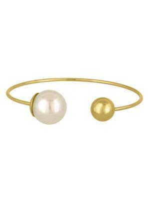 Majorica Faux Pearl Open Bangle