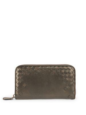 Bottega Veneta Signature Woven Leather Wallet
