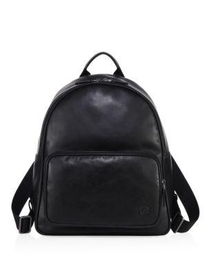 Giorgio Armani Solid Leather Backpack