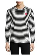 Comme Des Garcons Play Mini Heart Long-sleeve Cotton Tee