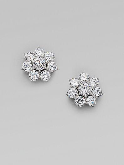 Adriana Orsini Sterling Silver Flower Stud Earrings