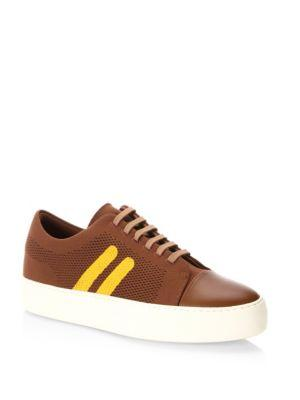 Neil Barrett Skateboard Lace-up Leather Sneakers