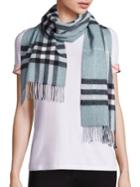 Burberry Dusty Mint Giant Check Cashmere Scarf