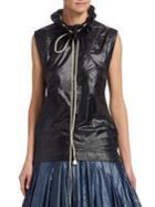 Calvin Klein 205w39nyc Ruffle Drawstring Sleeveless Top