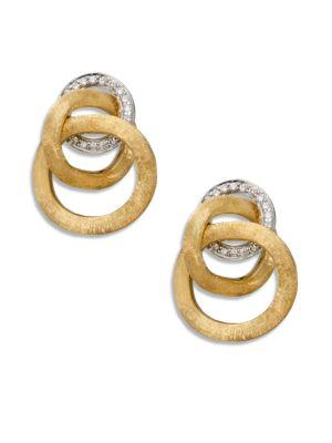 Marco Bicego Jaipur Link Diamond & 18k Yellow Gold Earrings