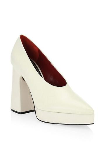 Proenza Schouler Ave Leather Chunky Platform Pumps