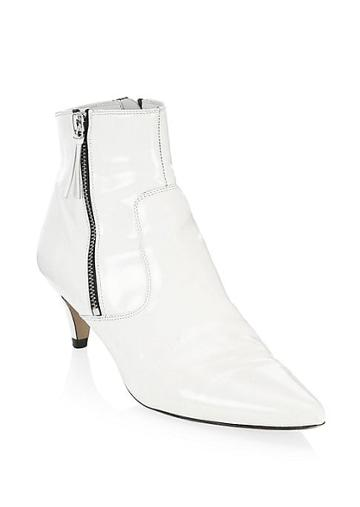 Isabel Marant Deby Leather Point-toe Ankle Boots