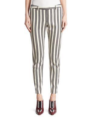 Altuzarra Henri Striped Wool & Cotton Pants