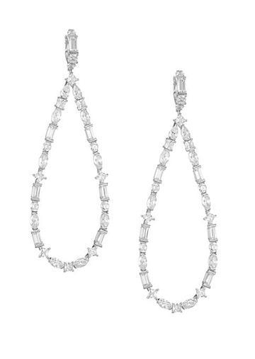 Adriana Orsini Large Mixed-shape Cubic Zirconia Teardrop Drop Earrings