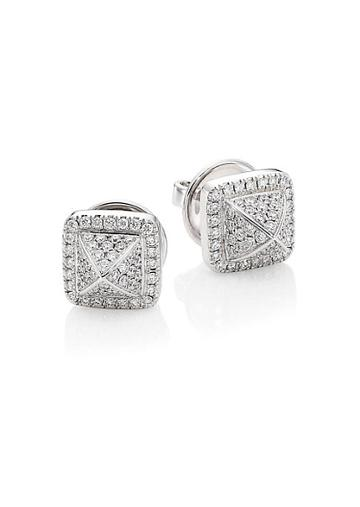 Marli Cleo 18k White Gold Stud Diamond Earrings