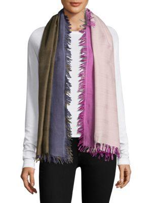 Bajra Checkerboard Wool & Silk Scarf