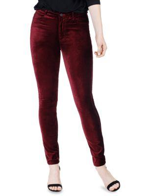 Paige Hoxton Velvet High Rise Skinny Jeans