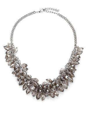 Abs By Allen Schwartz Jewelry Briolette Fringe Bib Necklace