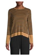 Eileen Fisher Striped Roundneck Sweater
