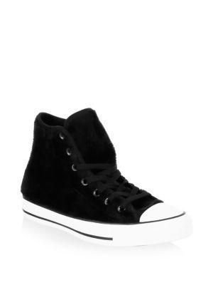 Converse Faux Fur Canvas Sneakers