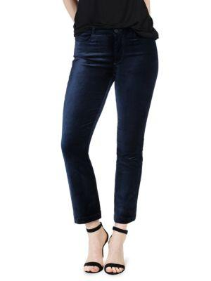 Paige Colette Velvet Crop Flare Jeans