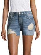 Frame Albion Distressed Denim Shorts