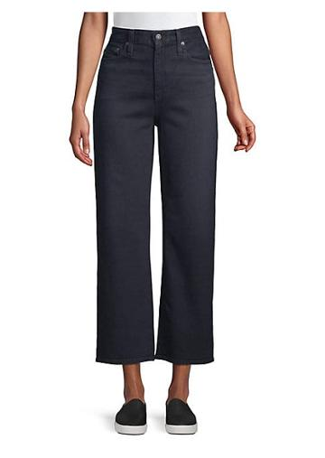 Ag Jeans Etta High-waist Wide-leg Crop Jeans