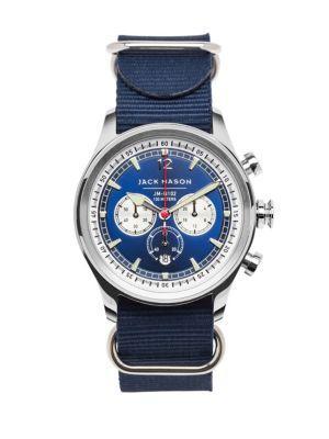 Jack Mason Nautical Stainless Steel Chronograph Strap Watch
