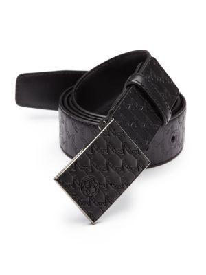 Montblanc Embossed Leather Belt