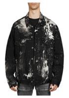 Balenciaga Splattered Paint Denim Jacket
