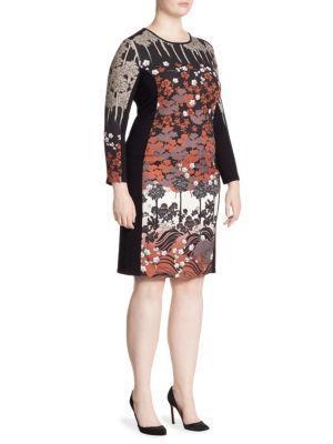 Stizzoli, Plus Size Bodycon Floral Dress
