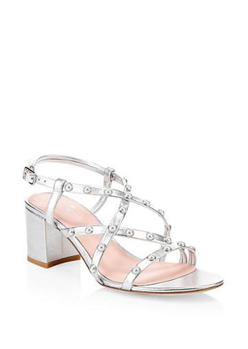 Kate Spade New York Wynne Strappy Metallic Block Heel Sandals