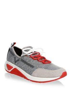 Diesel Heathered Suede Lace-up Sneakers