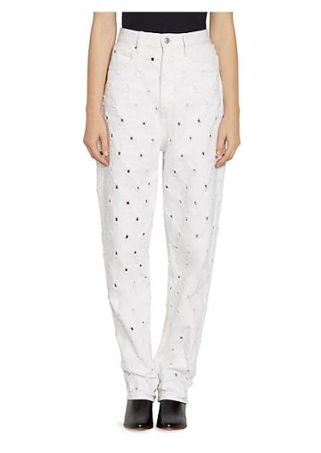 Isabel Marant Etoile Lorny Perforated Denim Mom Jeans