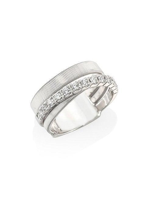 Marco Bicego Masai Diamond & 18k White Gold Three-row Ring