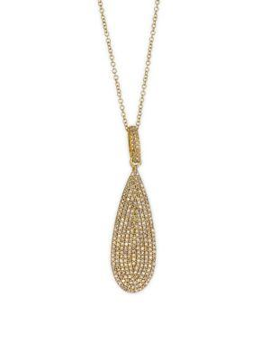Bavna 18k Gold & Diamond Pendant Necklace