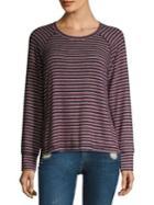 Sundry Striped Raglan Sleeve Pullover