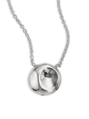 Ippolita 925 Onda Diamond Large Round Pendant Necklace
